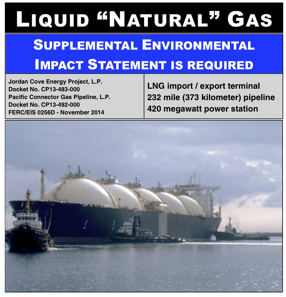"Liquid ""Natural"" Gas  Supplemental Environmental Impact Statement is required"