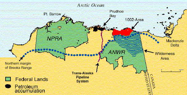 Alaska - Naval Petroleum Reserve and Arctic National Wildlife Refuge ANWR